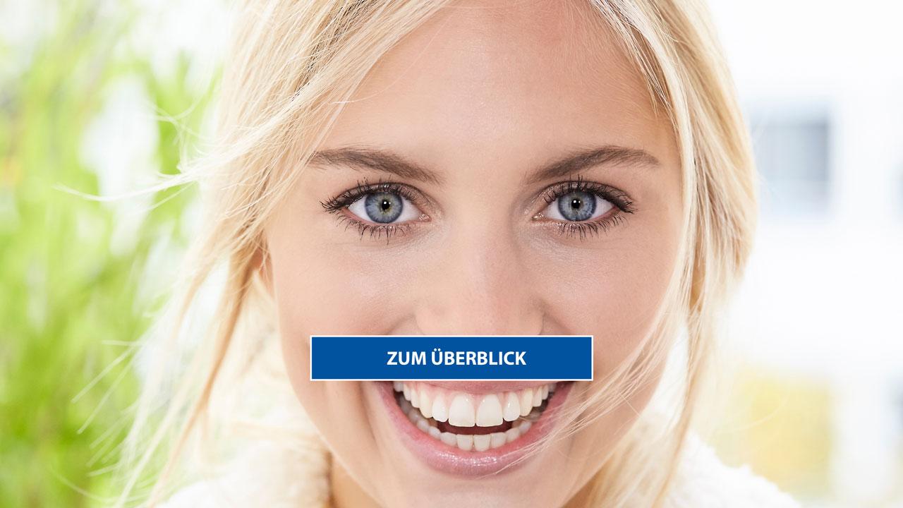 Augenlasern bis 45 Jahre Frau die Lacht Smile Eyes