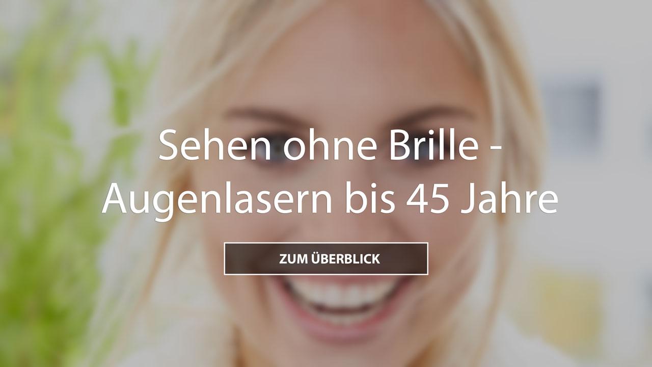 Augenlasern bis 45 Jahre Frau die Lacht